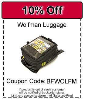 Wolfman Luggage 10% off